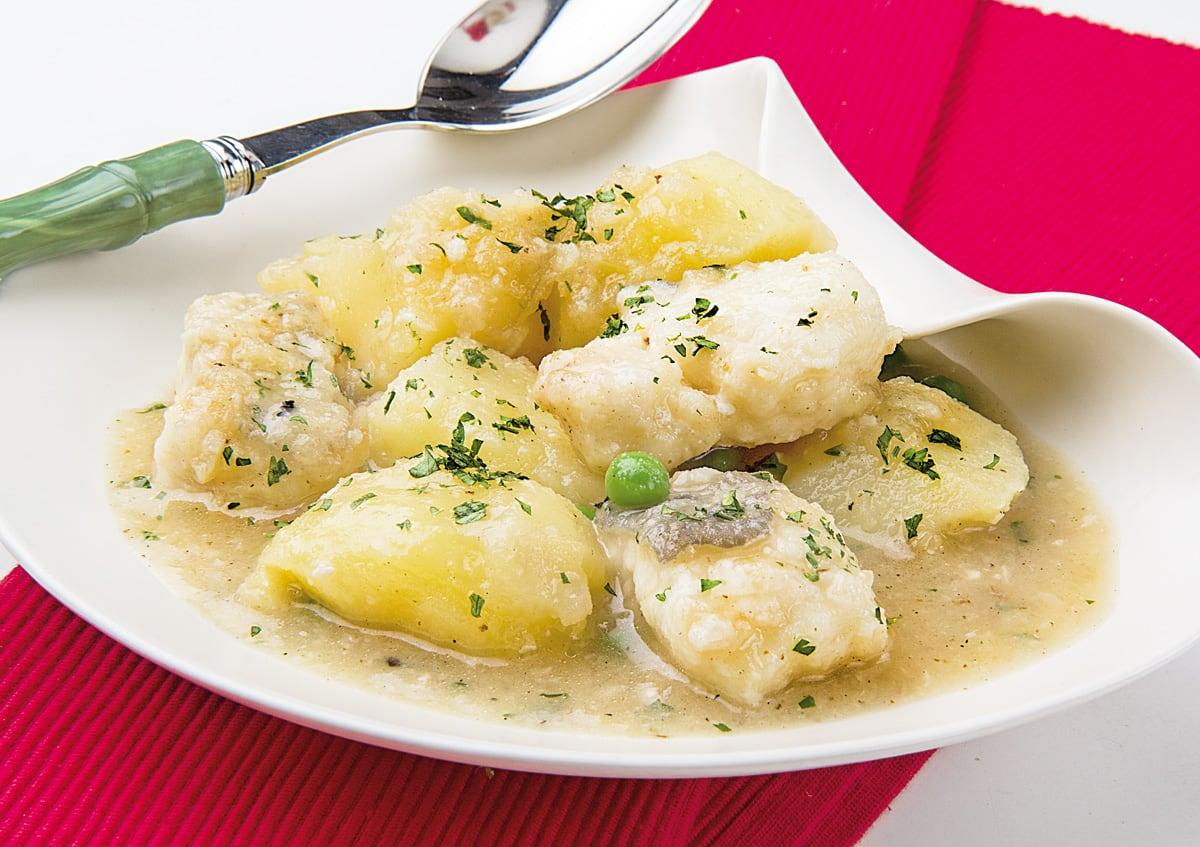 congrio con patatas